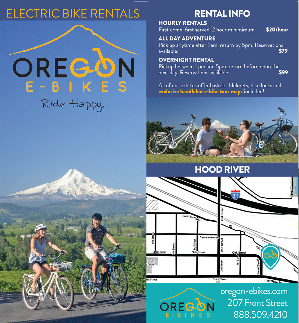 Oregon Ebikes Rack Card