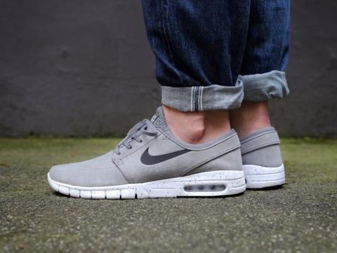 Nike Sb Janoski Max Grey Suede