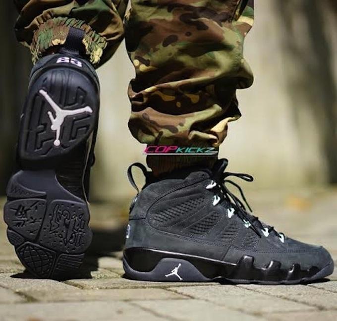 on sale c5fbe 78764 cheap air jordan shoes Jordan Retro 9 Anthracite White Black On Feet