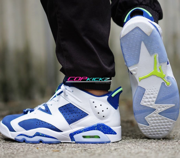 "new product fe03a 19d9d On-Feet Images Of The Air Jordan 6 Low ""Ghost Green ..."