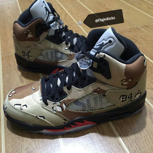 the best attitude 33129 73529 New Images Of The Supreme X Air Jordan 5 Have Surfaced — Sne