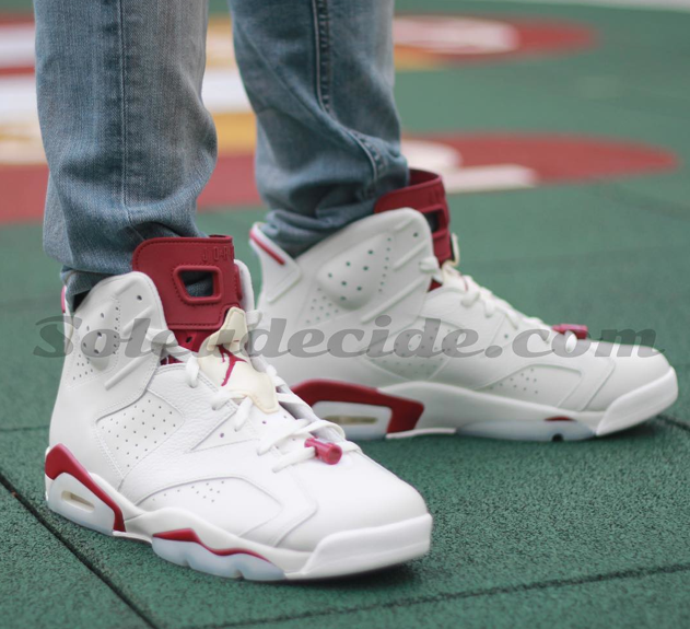 """best choice lowest price uk cheap sale On-Feet Photos Of The Air Jordan 6 """"Maroon"""" — Sneaker Shouts"""