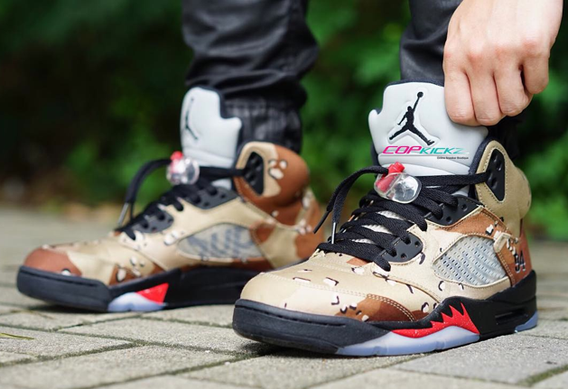 air jordan retro 5 x supreme camo