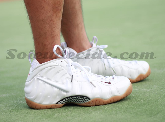 """On-Feet Images Of The Upcoming Nike Air Foamposite Pro """"White Gucci ... 8e147fabbeec"""