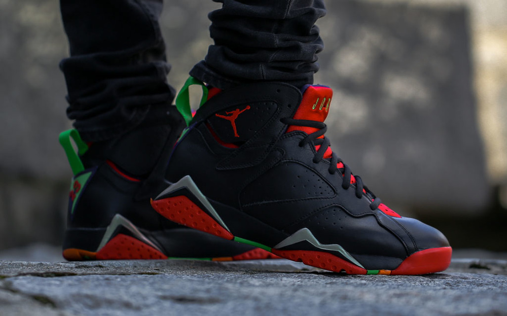 cb74f66d9 ... sale heres an on feet look at the air jordan 7 marvin the martian u2014  sneaker