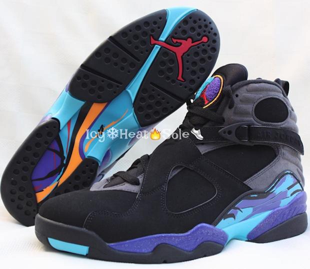 "df2a8f85d94bae More Photos Of This Year s Air Jordan 8 ""Aqua"" — Sneaker Shouts"