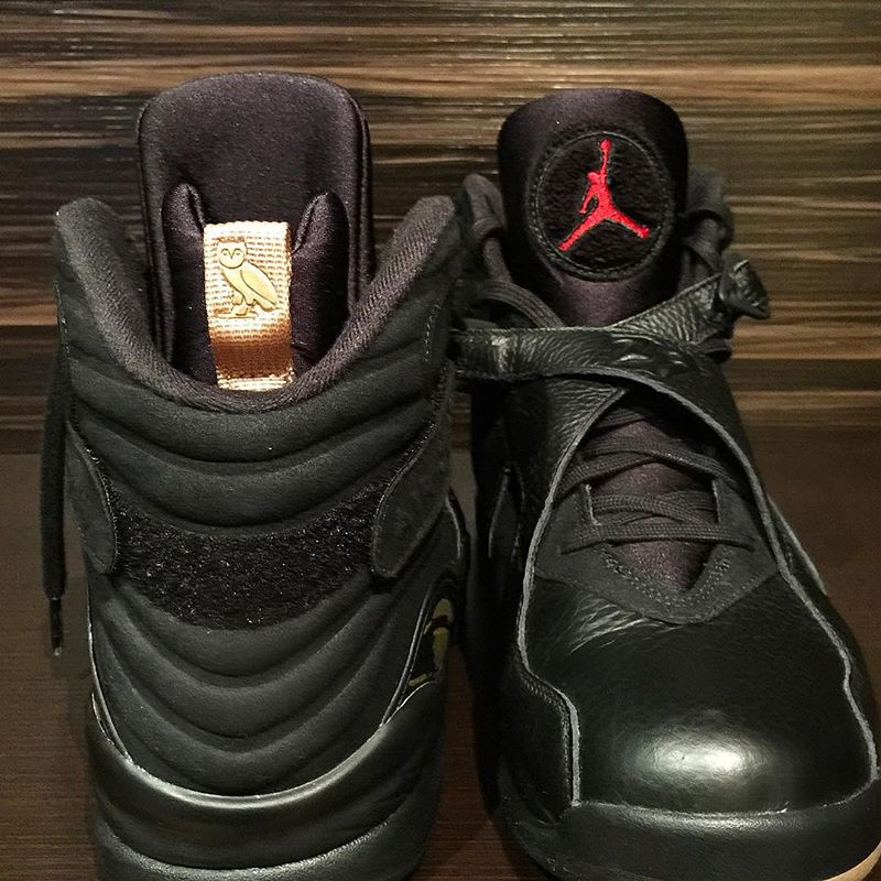 """a6bf584c0e3 New Images Of The Air Jordan 8 OVO """"Black"""" — Sneaker Shouts"""