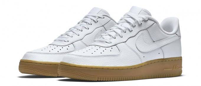 white air force 1 gum bottom