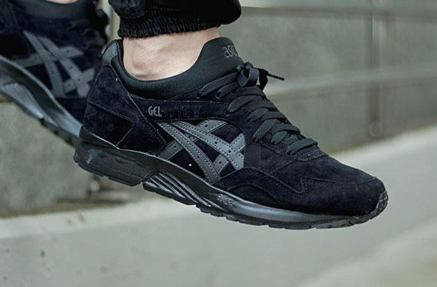 asics gel lyte v triple black ebay
