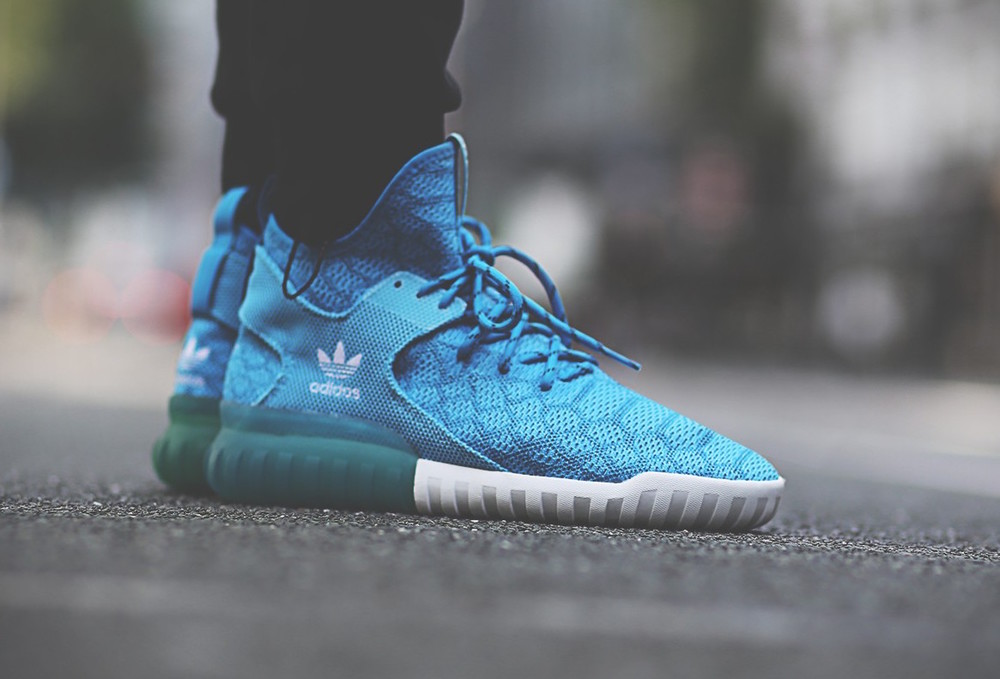 Adidas Tubular X Blue And White