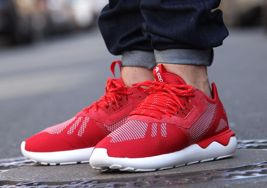 the best attitude aed8d 36485 adidas tubular runner weave red