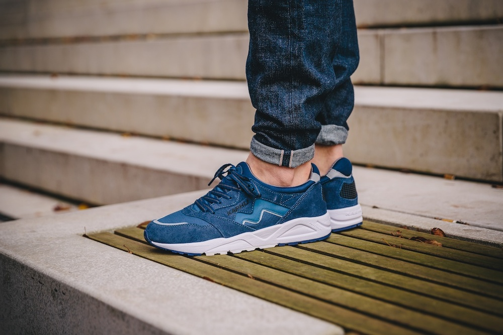 Karhu Aria Navy:White On Feet1.jpg