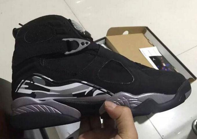 Air Jordan 8 Retro Black Chrome shoes