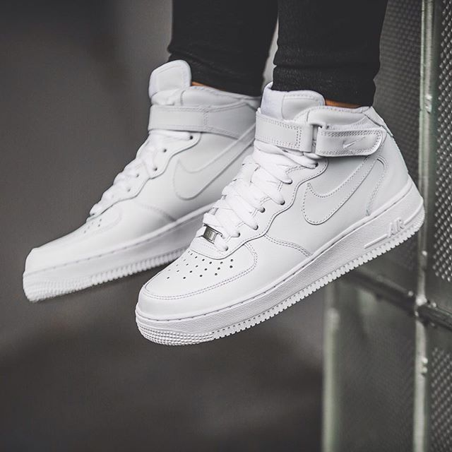 nike air force one white mid