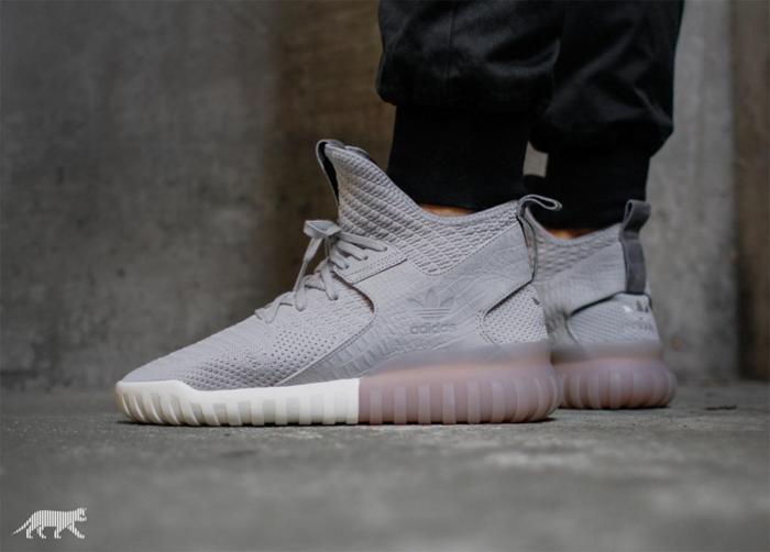 Adidas Tubular X Tan On Feet