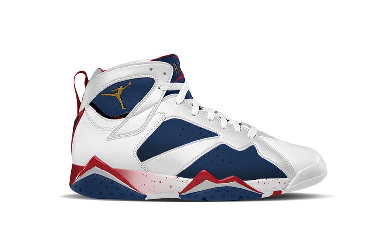 Mens Nike Air Jordan 7 Inflige Édition Olympic Rétro