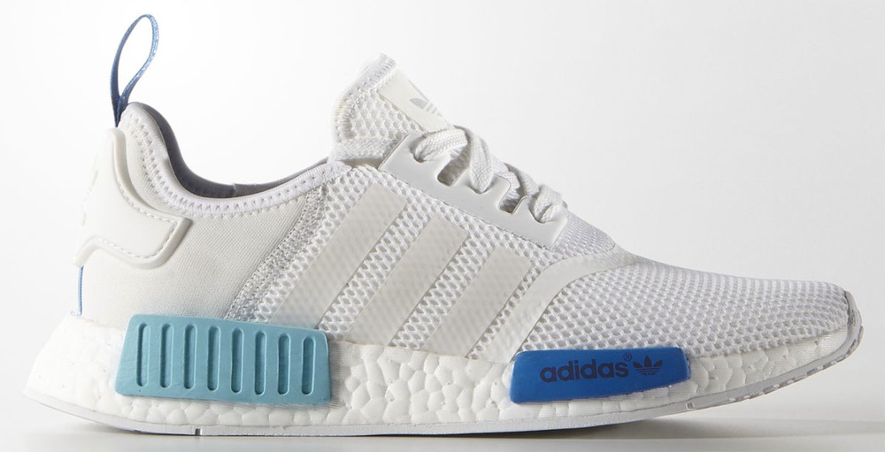 adidas nmd white blue