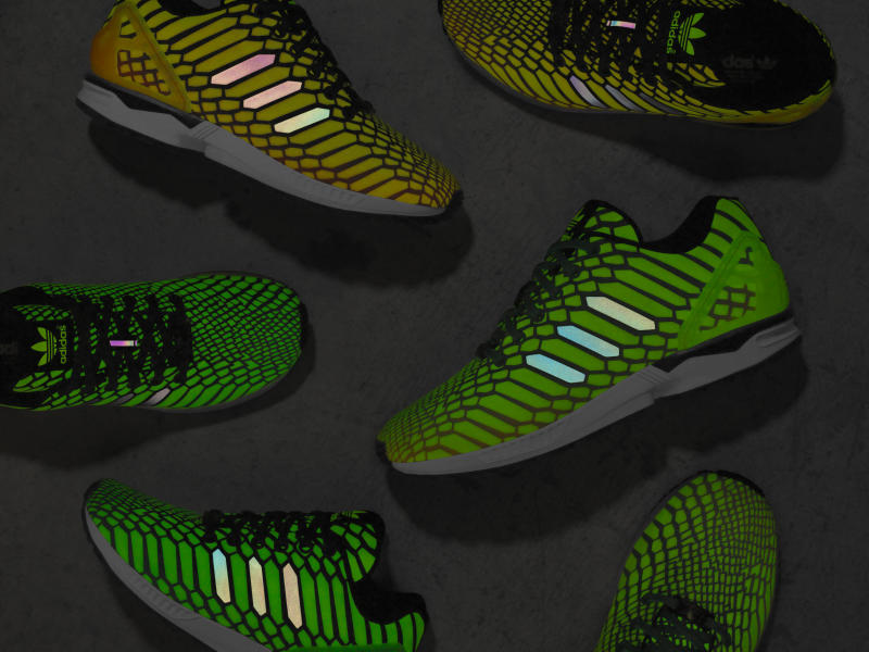 e3ac19c82adef Adidas Glow in the Dark ZX Flux