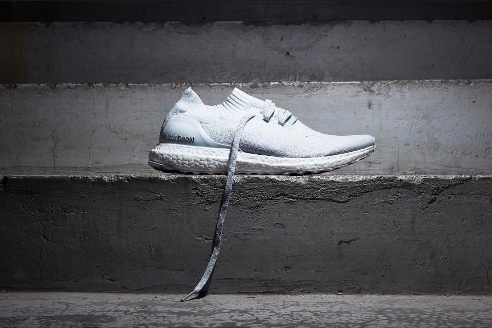 3da6e83e73445 First Look at the all-white Adidas Ultra Boost Uncaged — Sneaker Shouts