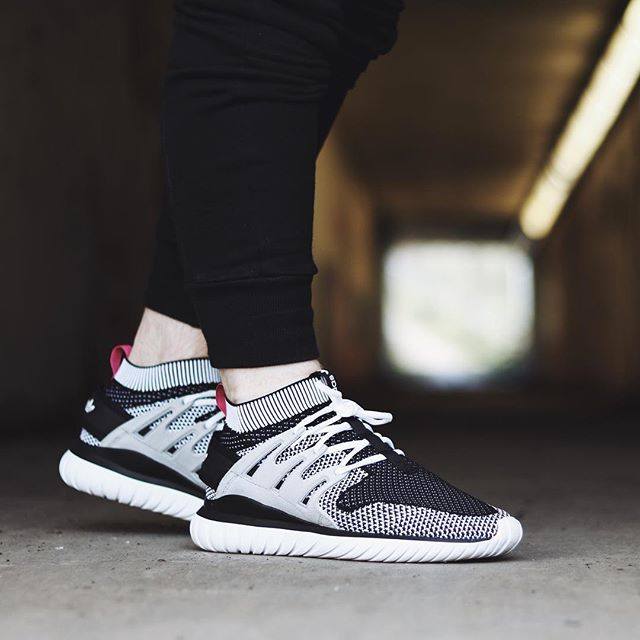 purchase cheap 03772 e8338 adidas Tubular Nova Primeknit Glow in the Dark Grey White