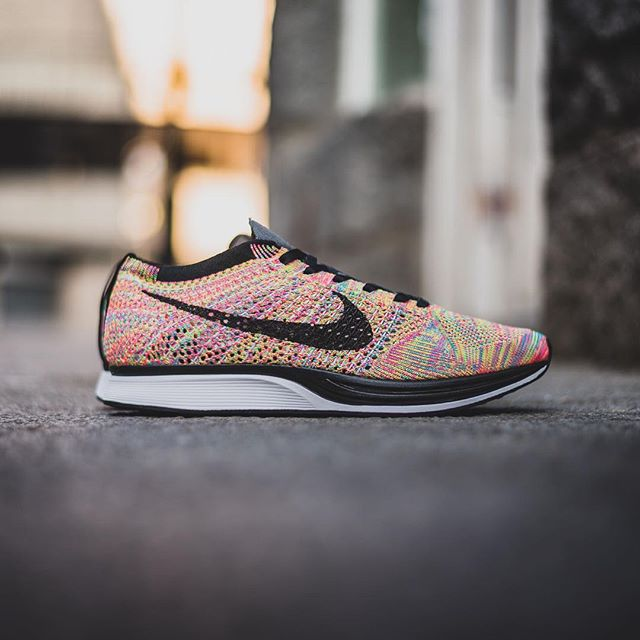 clearance nike flyknit racer multicolour all white c1911 6e285