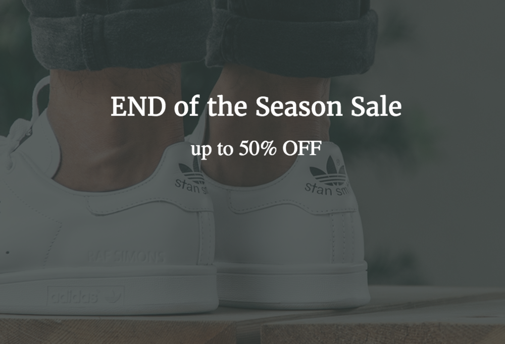 02d544e8 Get up to 50% OFF select footwear brands like Adidas Y-3, Raf Simons, Adidas,  Common Projects, Filing Pieces, and MORE!