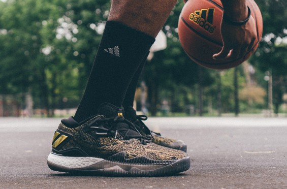 ee54562b85f4 inexpensive release date adidas crazylight boost 2016 pe black gold fa490  9b07d  france initially spotted on the court on james hardens feet earlier  this ...