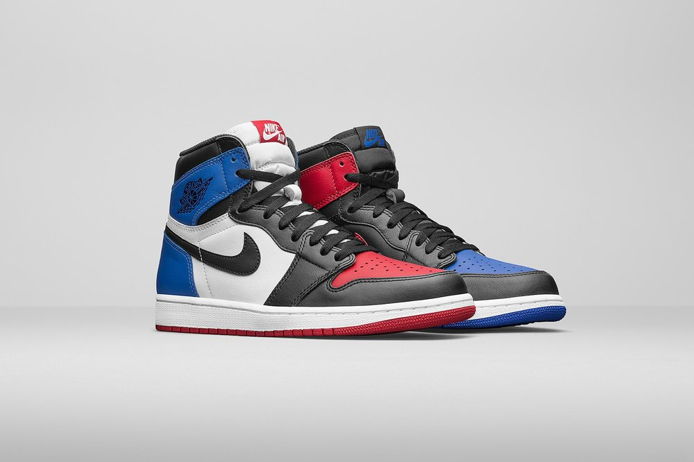 "Air Jordan 1 High Retro ""Top Three"" Online Release Links"