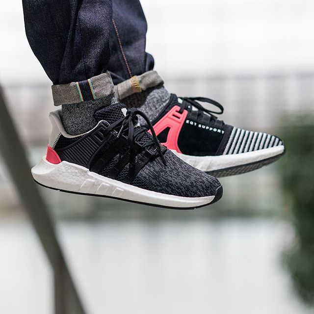 adidas EQT Running Cushion Black/Metallic Silver Sneaker