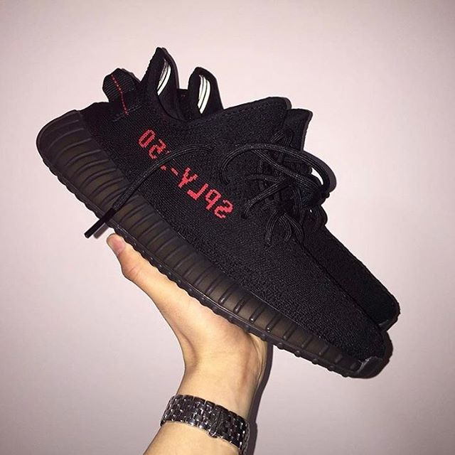 ADIDAS YEEZY BOOST 350 V2 BLACK/WHITE ON FOOT