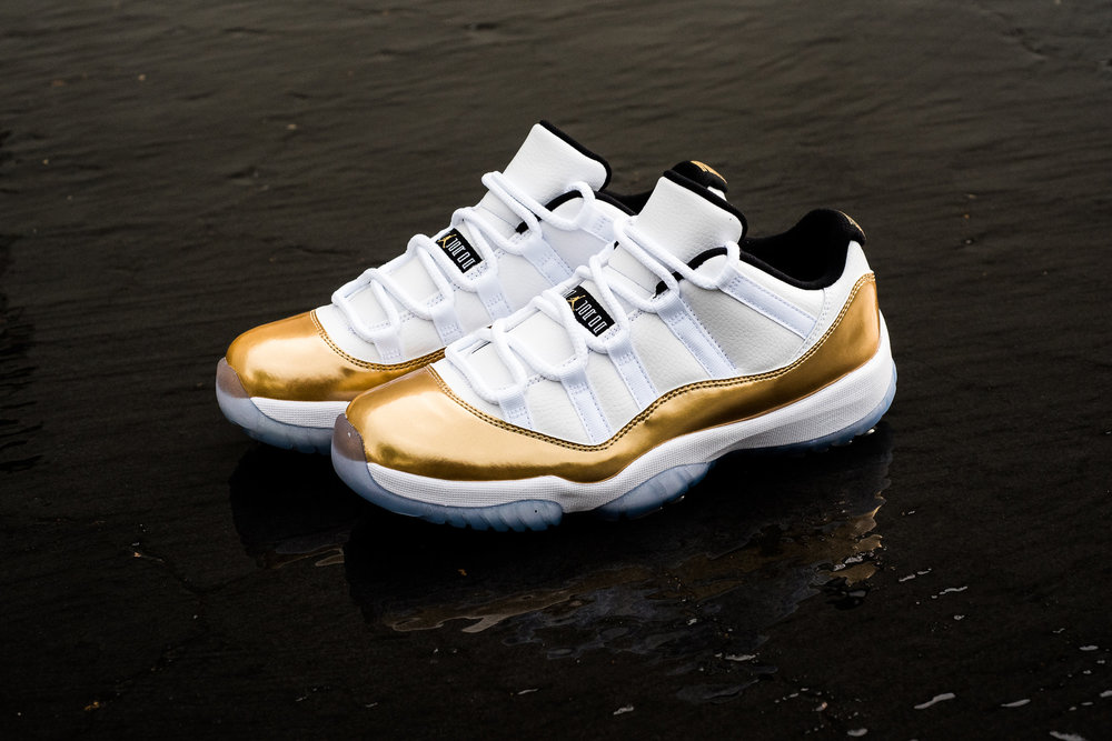 de6875ebb80be4 free shipping restock air jordan 11 retro low gold coin 5a6f3 6e5a9