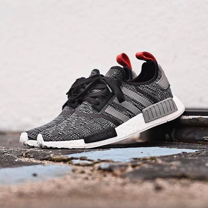 Brand new adidas original nmd r1 glitch core black gray