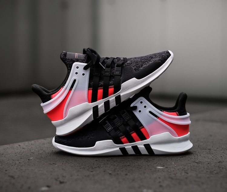 MIDNIGHT ONLINE Adidas EQT Support RF White / Black Credit : The
