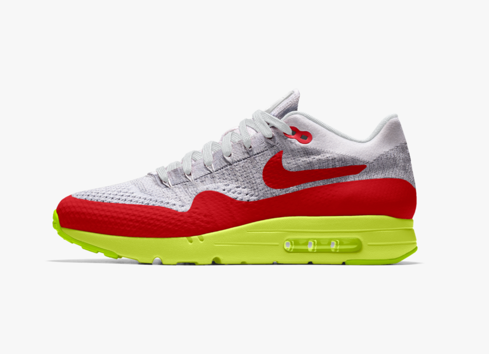 95701be8c7b3f Now Available  NikeID Air Max 1 Ultra Flyiknit — Sneaker Shouts