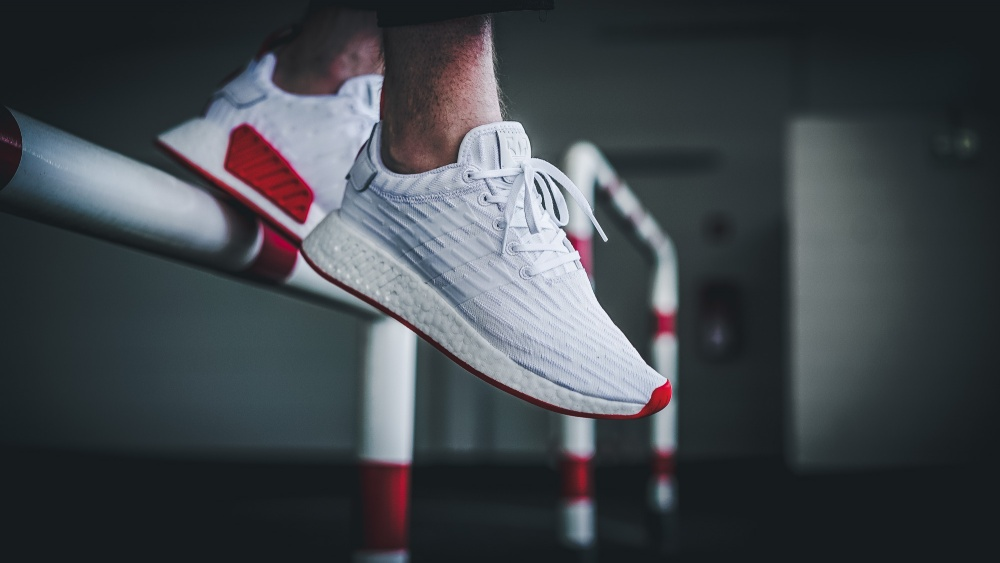 Now Available Adidas Nmd R2 Primeknit White Red Sneaker Shouts