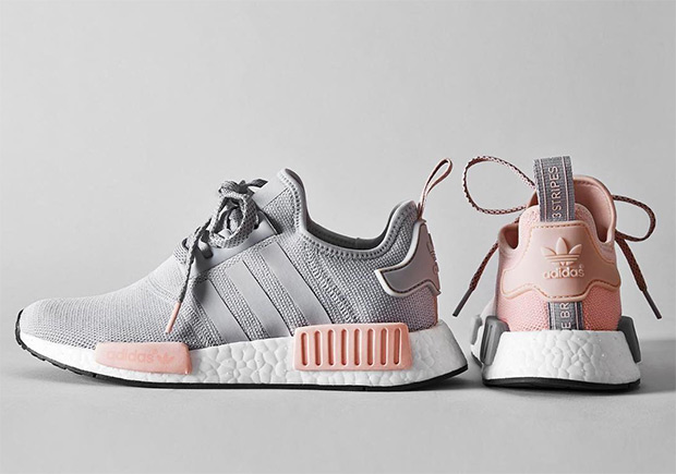 adidas nmd r1 womens grey and pink