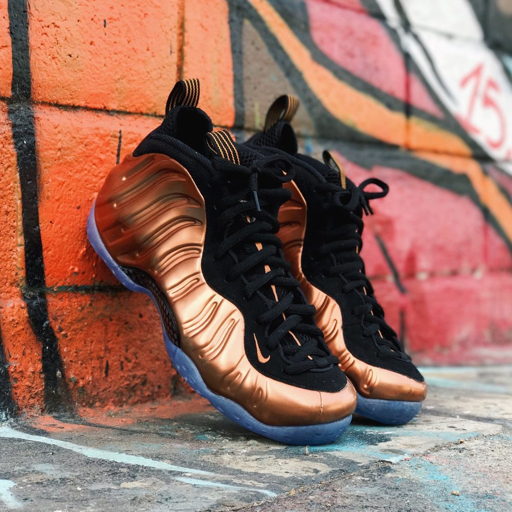 size 40 92d52 b346a nike foamposite copper sale