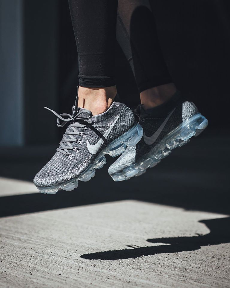 women 39 s nike air vapormax flyknit asphalt under retail sneaker shouts. Black Bedroom Furniture Sets. Home Design Ideas