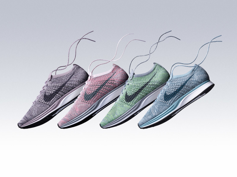 703cf4051 wholesale now available nike flyknit racer macaron pack eba16 316a6