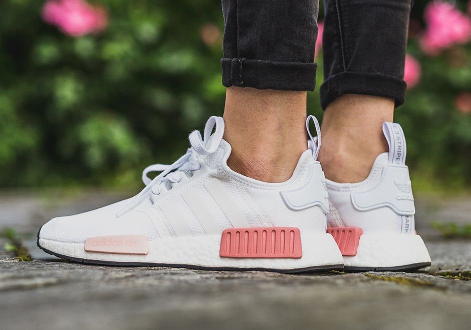adidas nmd womens white and pink