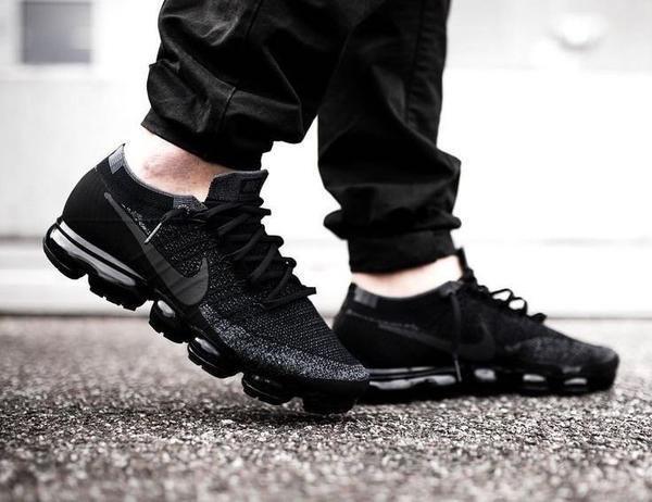 Nike Air Vapormax Flyknit Triple Black Under Retail Sneaker Shouts