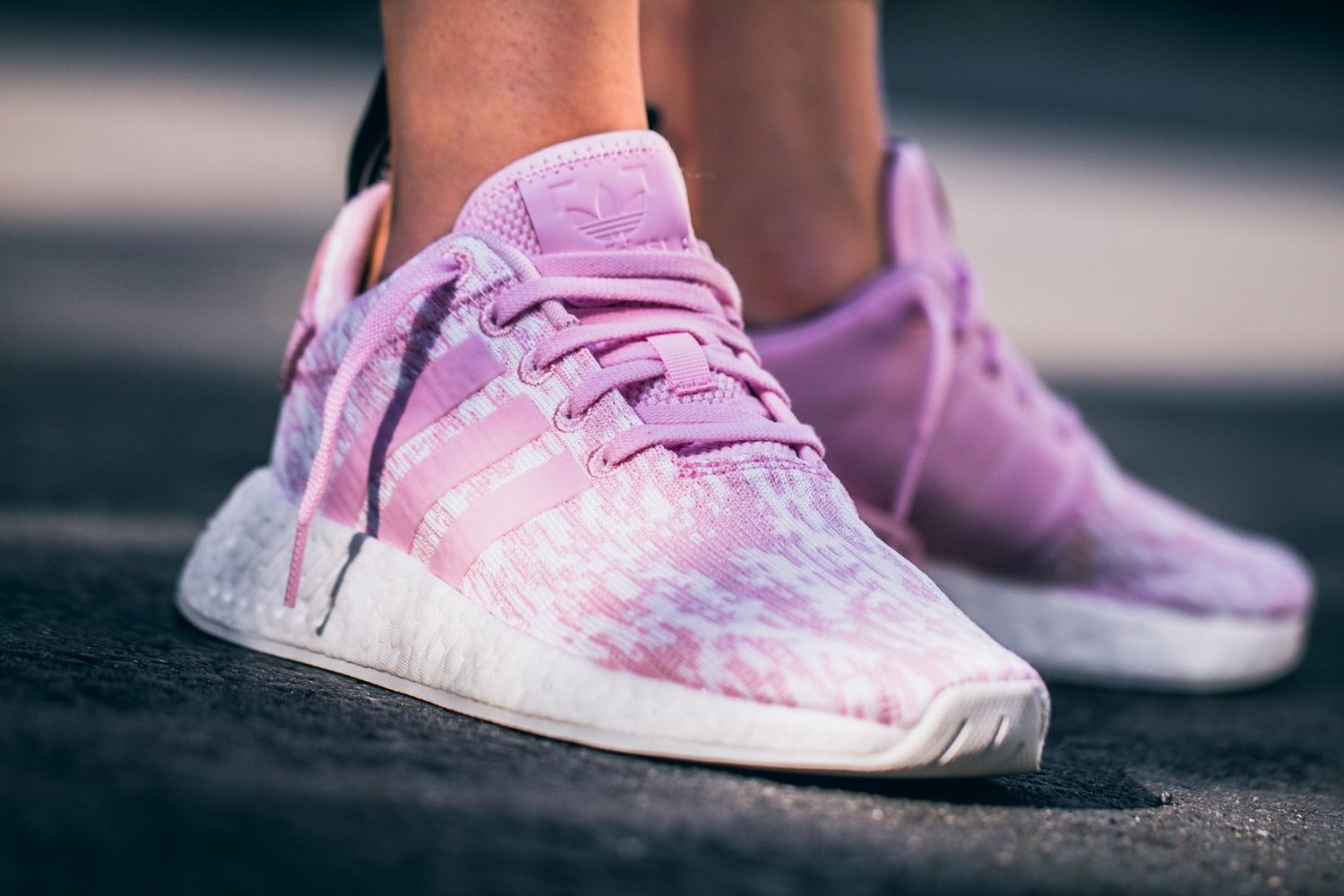 Now Available Women S Adidas Nmd R2 Knit Wonder Pink Sneaker Shouts