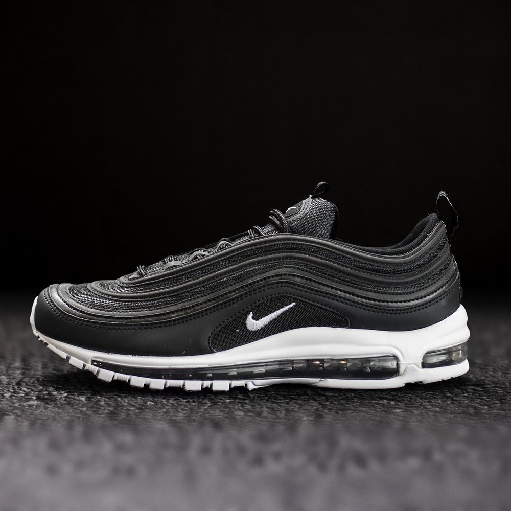 super popular 02d8b 941cd Cheap Nike Air Max 97 Ultra Triple Black  On Foot Shots The Drop Date