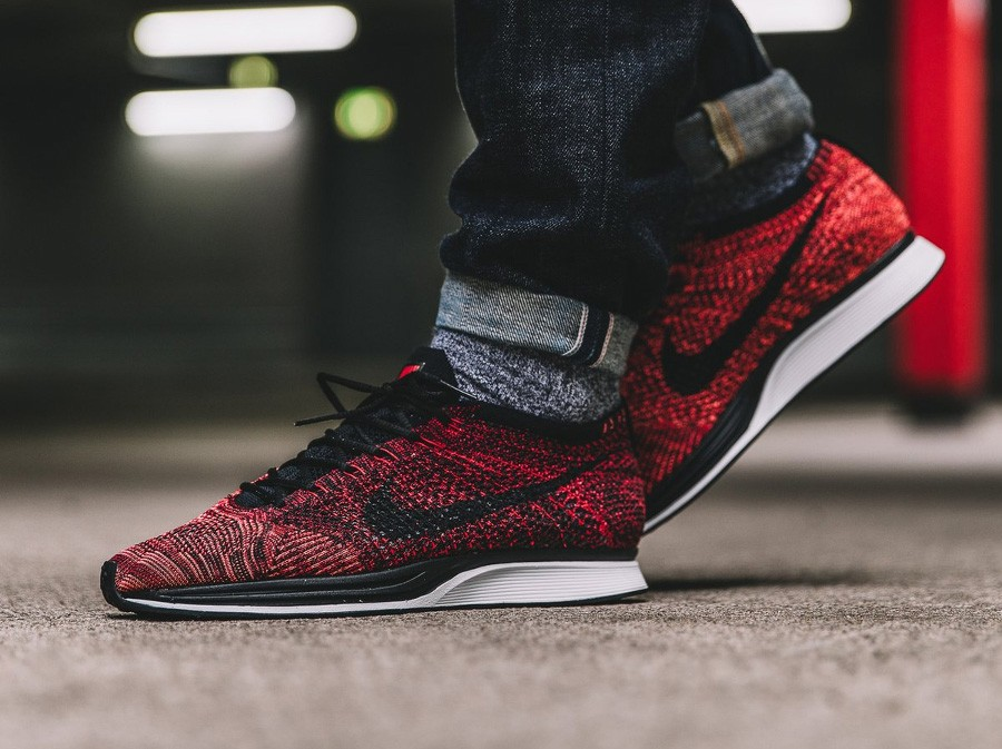 online store 98bb8 a817c ... black bright mango mens shoes 526628 608 8028b a9aad  aliexpress nike  flyknit racer university red mango 04d75 a7b68