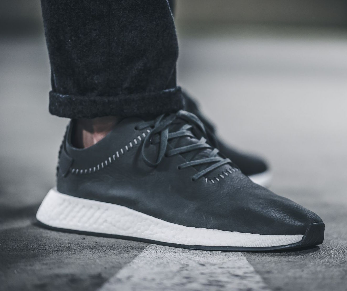 watch b1587 10404 On Sale: Wings + Horns x adidas NMD R2 Leather