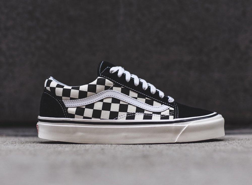 vans old skool grey checkerboard