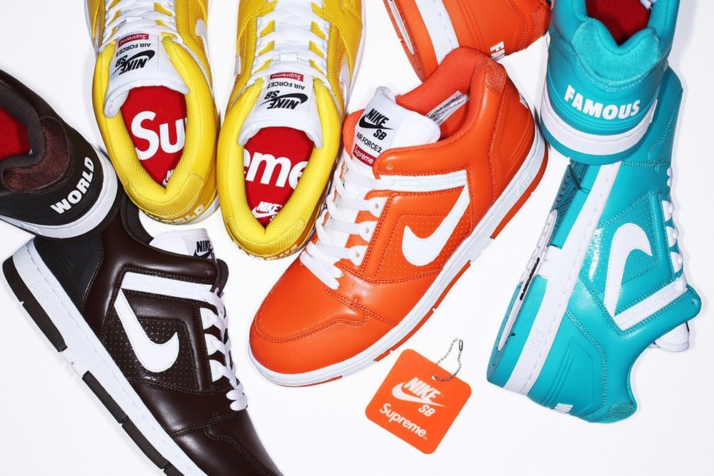 841204466550 Now Available  Supreme x Nike SB AF-2 Low — Sneaker Shouts
