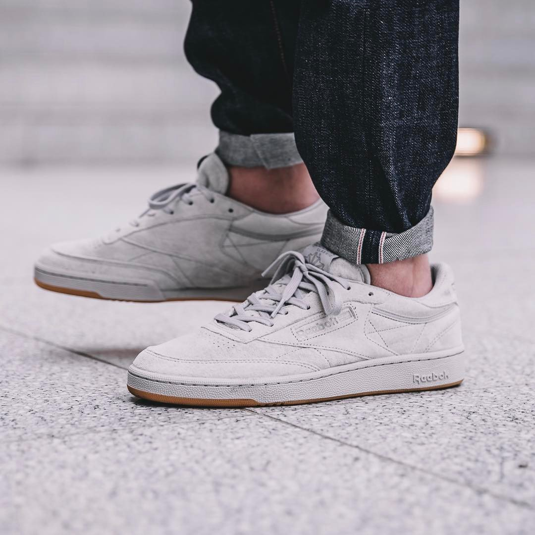Reebok Club C 85 Steel Carbon Gum Sale Off 61