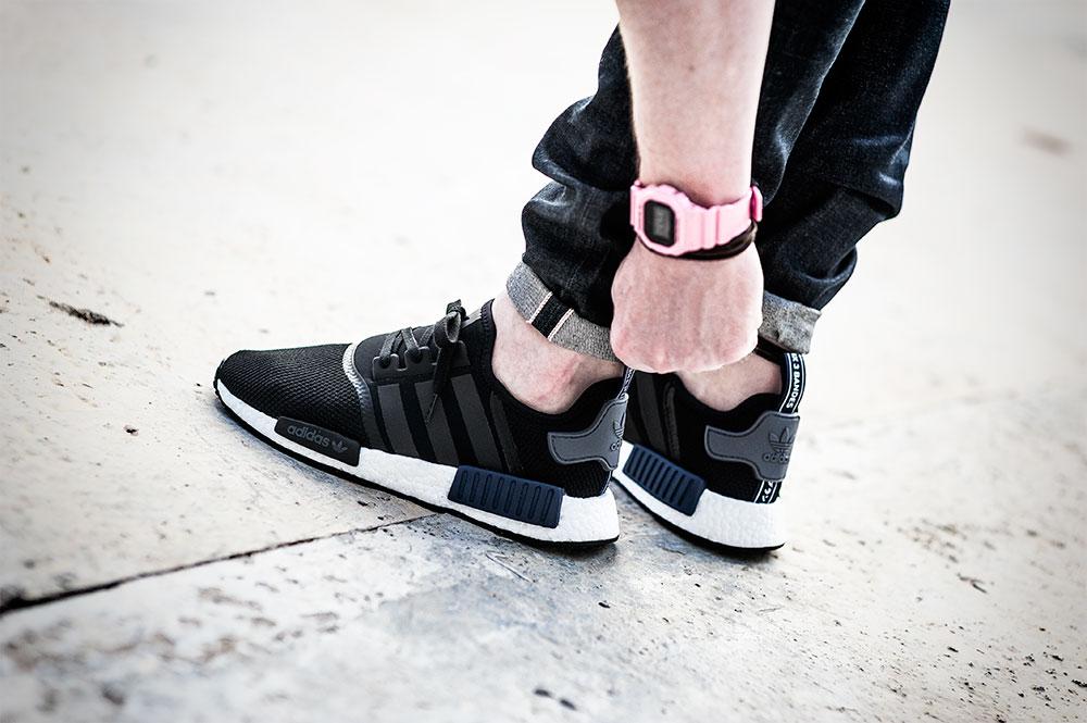 Jd Sports X Adidas Nmd R1 Black Blue Under Retail Sneaker Shouts