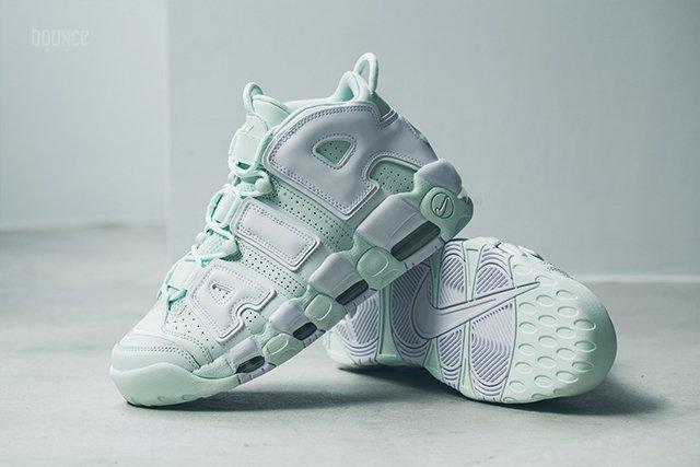 ... usa now available womens nike air more uptempo barely green u2014  sneaker shouts e2890 251cb 35de03c8d